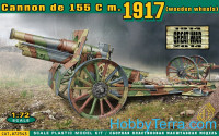 Cannon de 155 C m.1917 (wooden wheels)