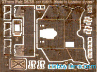 Photo-etched set 1/35 Pak.35/36 AT gun, for Tamiya kit