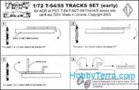 Photo-etched tracks set for T-54/55/59 tanks. cat#7224