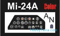 Ace  7259 Photo-etched set Mi-24A cockpit interior, for Zvezda kit