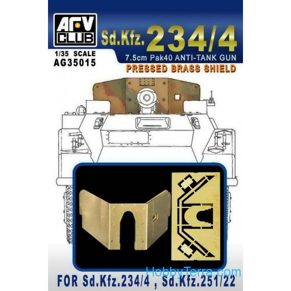 AFV-Club  AG35015 Photo-etched set 1/35 for Sd.Kfz.234/4, Sd.Kfz.251/22