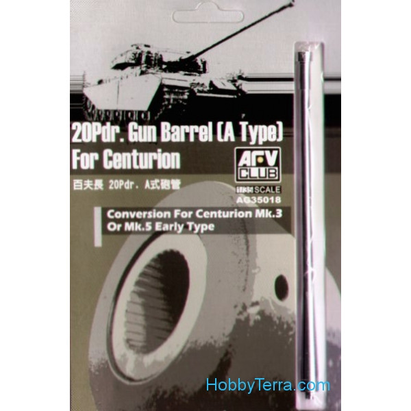 AFV-Club  AG35018 Gun barrel 20Pdr. (A Type) for Centurion Mk.III-V