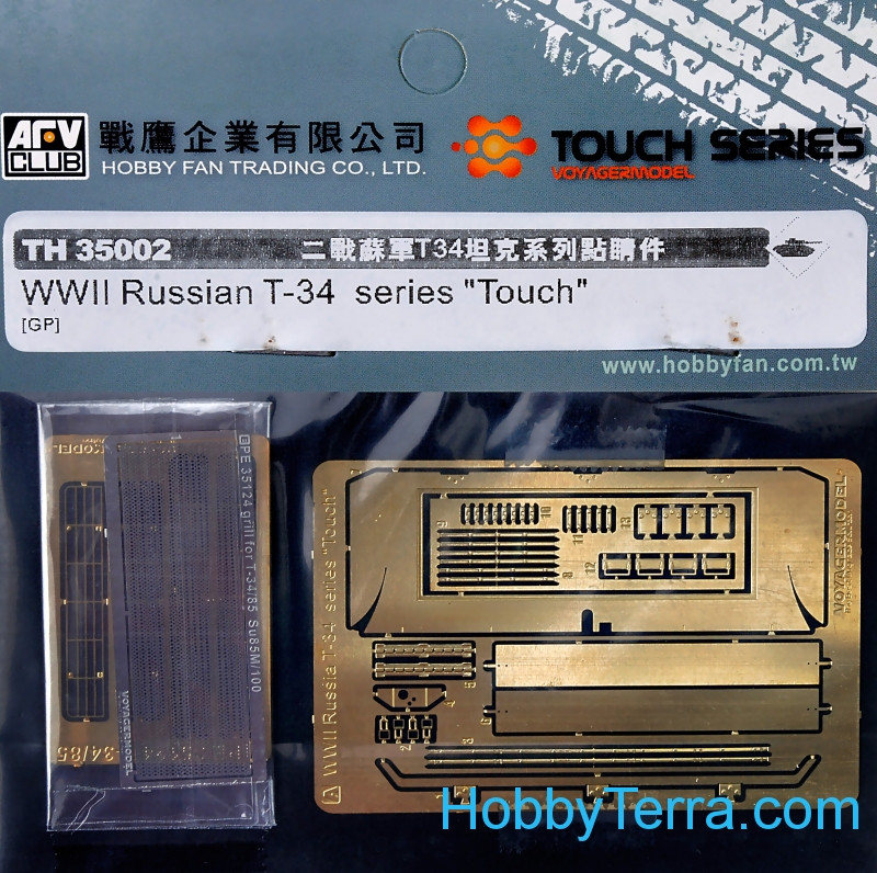 "AFV-Club  TH35002 Photo-etched set 1/35 for Russian T-34 series ""Touch"""