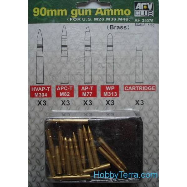 90mm gun Ammo for US M26, M36, M46
