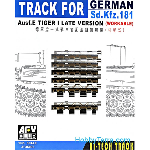 AFV-Club  35093 Workable track for Sd.Kfz.181, late type
