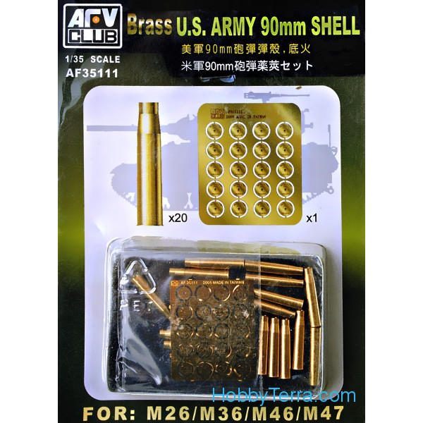 90mm shell for tanks M26, M-36, M-46, M-47