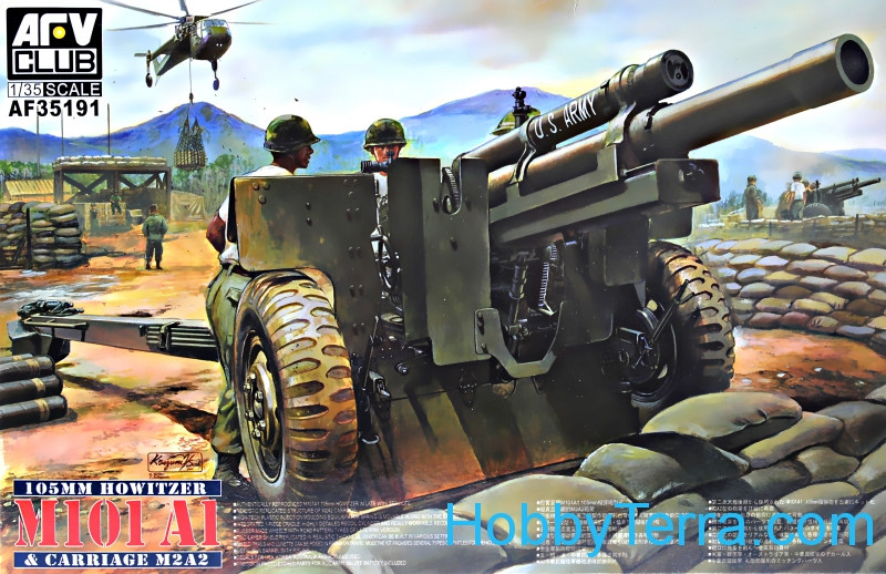 AFV-Club  35191 105mm howitzer M101A1 & carriage M2A2
