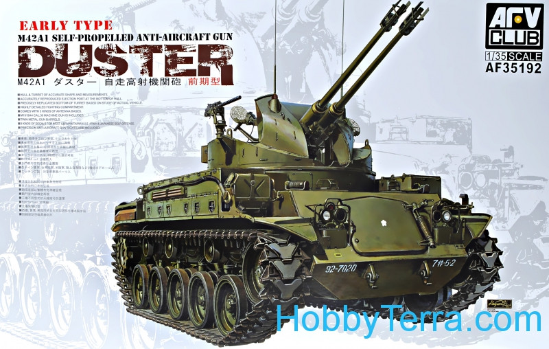 """Duster"" M42A1 self-propelled anti-aircraft gun, early type"