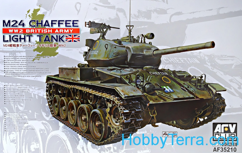 Light tank M24 Chaffee, WW 2 British Army