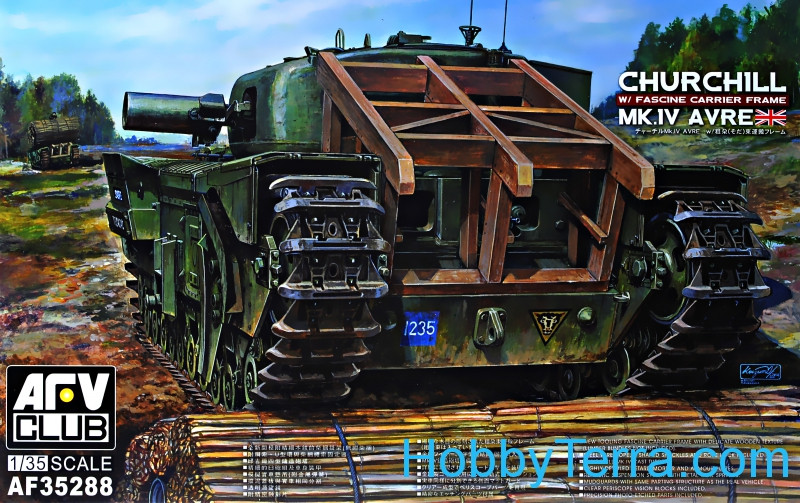 Churchill MK IV Avre w/Fascine carrier frame