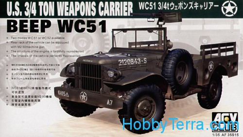 AFV-Club  35S15 U.S. 3/4 ton Weapons Carrier beep WC51