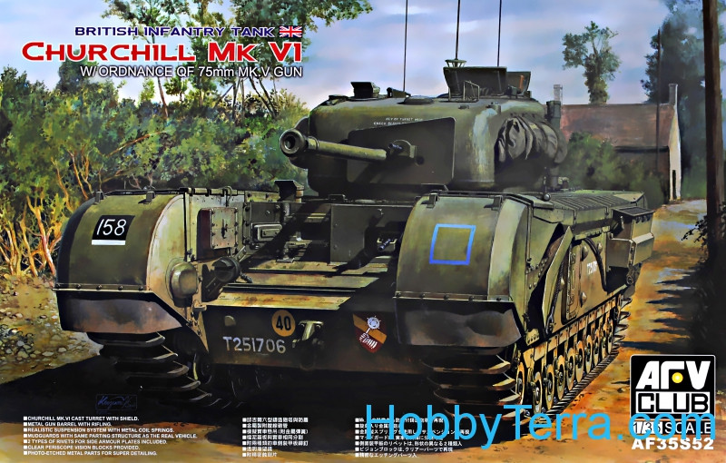 British infantry tank Churchill Mk.VI w/ordnance QF 75mm Mk.V gun (Limited)