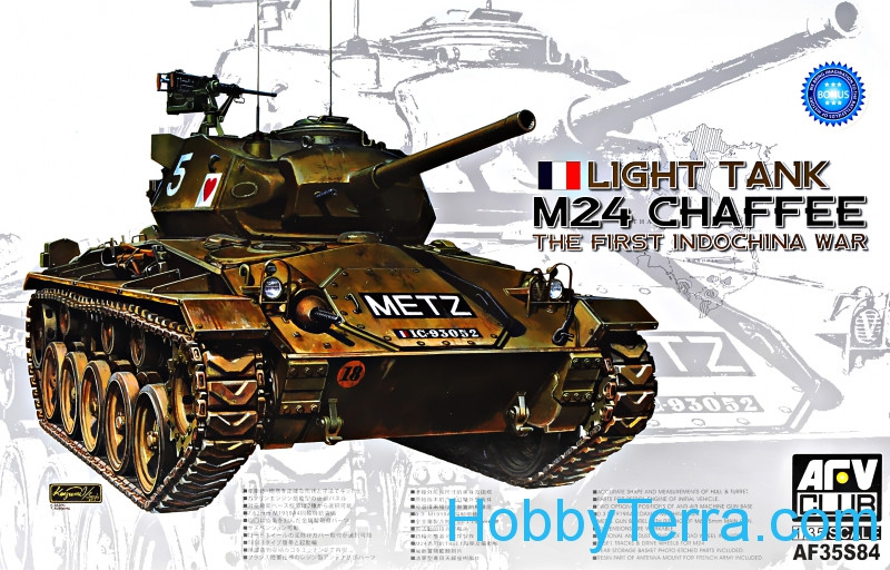 Light tank M24 Chaffee, the First Indochina War