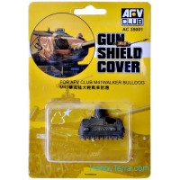 Gun shield cover for tank M41A3