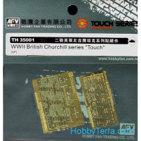 "Photo-etched set 1/35 for WWII British Churchill series ""Touch"""