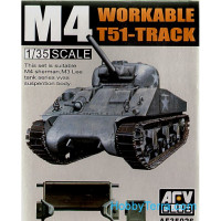 Workable T51-track for M4 tank