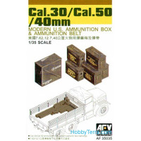 Modern US ammunition boxes Cal.30 / Cal.50/40mm