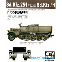 Workable track link for Sd.Kfz.251, early type