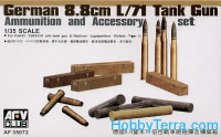 Ammunition and accessory set for German 8,8cm L/71 tank gun