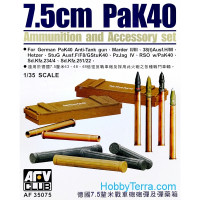 Ammunition and accessory set for 75mm PaK40 gun