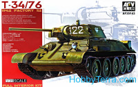 Tank T-34/76, 1942 factory #112 (Full interior kit)