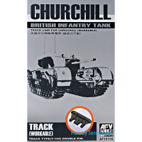 Workable tracks 1/35 for Churchill tank