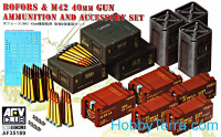 Bofors & M42 40mm ammunition and accessories set