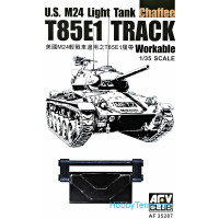 Tracks workable for U.S. M24 light tank chaffe T85E1