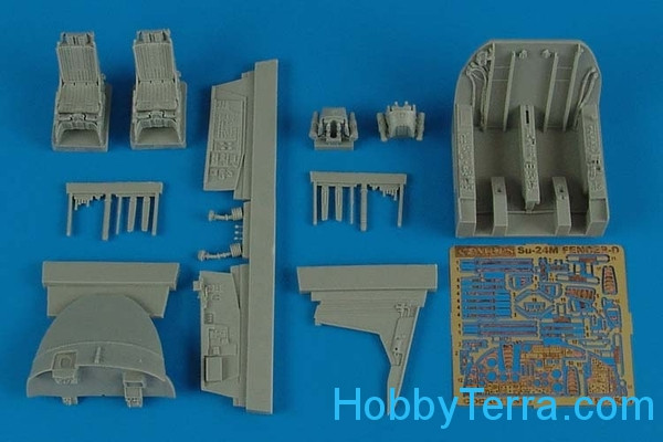 Detailing set 1/48 cockpit Su-24M Fencer, for Trumpeter kit