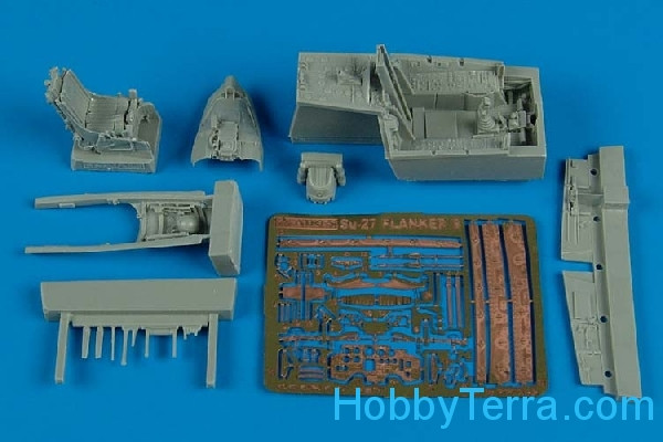 Aires Hobby Models  7249 Su-27 Flanker B cockpit set, for Hasegawa/Revell kit