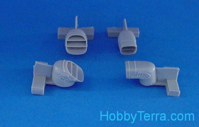 Harrier GR.5/7 exhaust nozzles, for Hasegawa kit