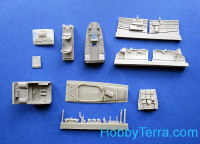 Me 410B-2/U4 cockpit set, for MENG kit