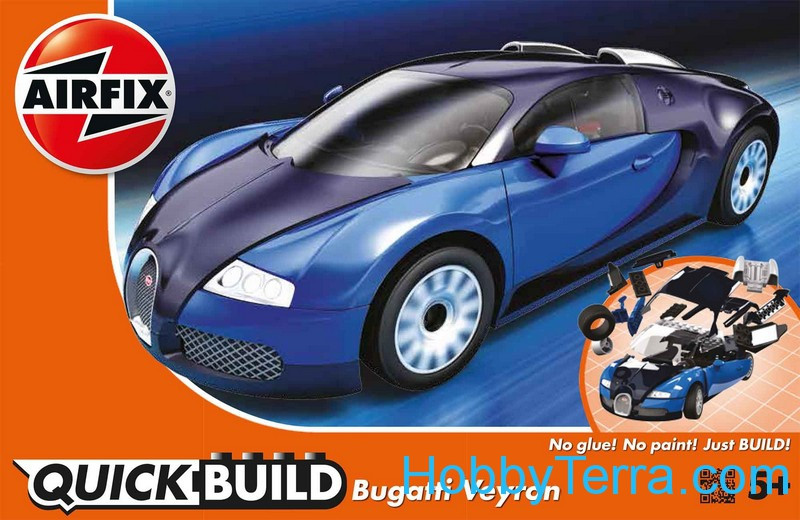 bugatti veyron quick build airfix j6008. Black Bedroom Furniture Sets. Home Design Ideas