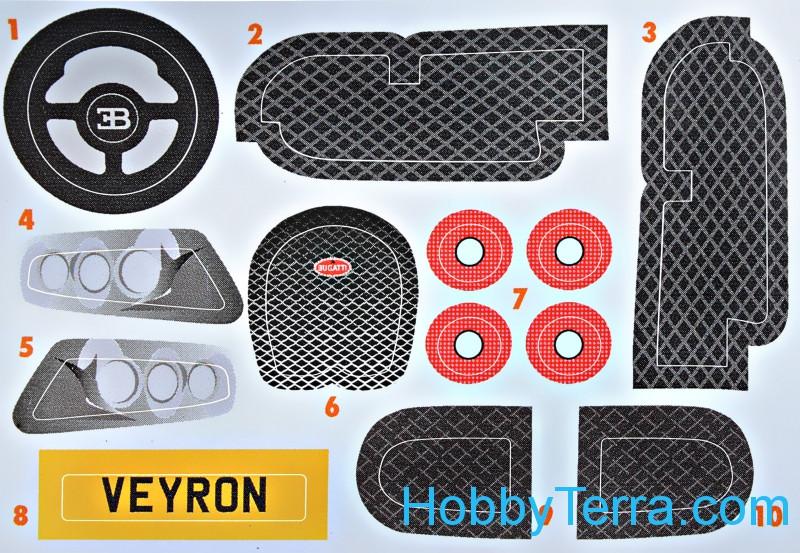 bugatti veyron quick build airfix j6008. Black Bedroom Furniture Sets. Home Design Ideas