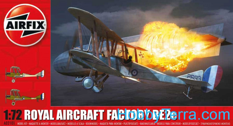 Royal Aircraft Facility BE2C biplane