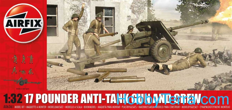 17 pdr anti-tank gun and crew