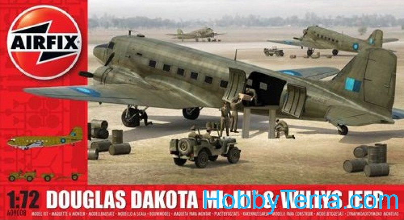 Airfix  09008 Douglas Dakota MkIII with Willys Jeep