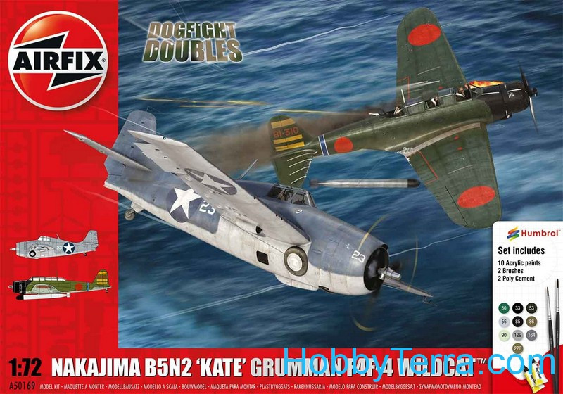 "Gift Set. Nakajima B5N2 'Kate' and Grumman Wildcat F4F4 ""Dogfight Doubles"""