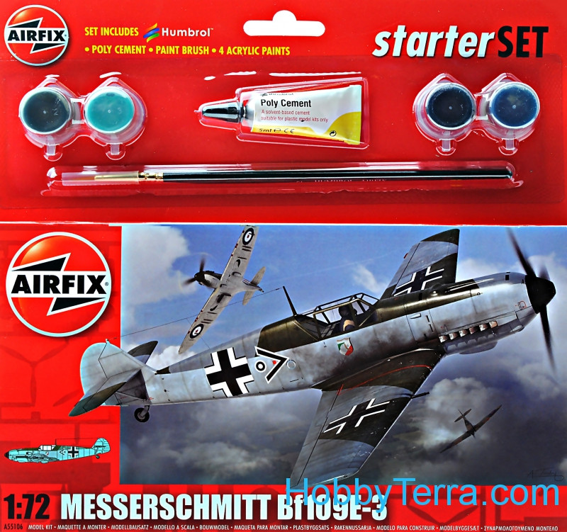 Model set. Messerschmitt Bf109E-3