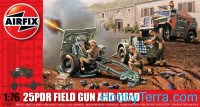 25pdr field gun and quad