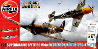 Gift Set. Supermarine Spitfire Mk1a and Messerschmitt Bf-109E-4