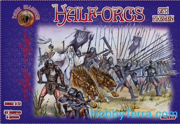 Alliance  72015 Half-Orcs pikemen, set 1