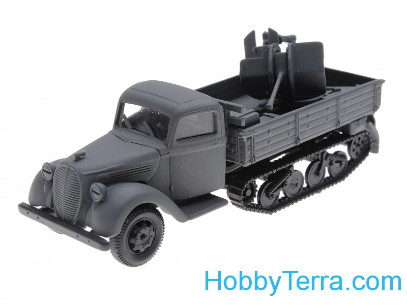1:87 Ford maultier with AA gun