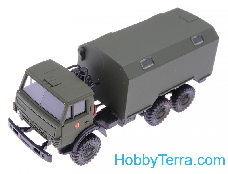 1:87 Kamaz truck, dark green color