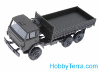 1:87 Kamaz cargo truck, dark green color