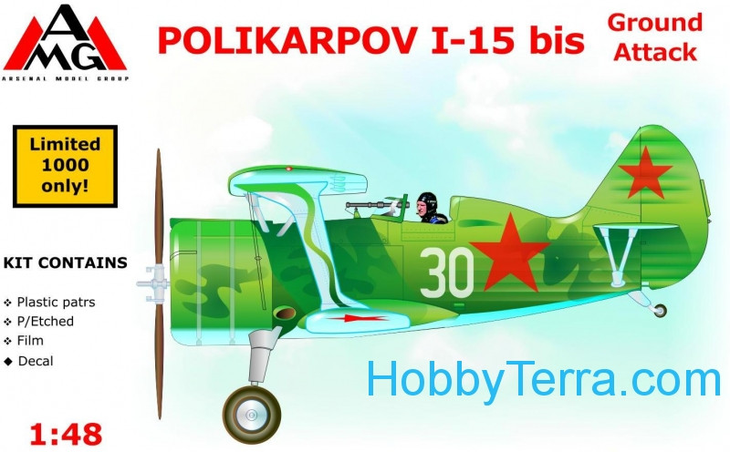 Polikarpov I-15 bis ground attack aircraft