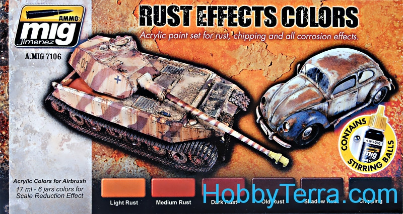 Smart Set. Rust Effects colors
