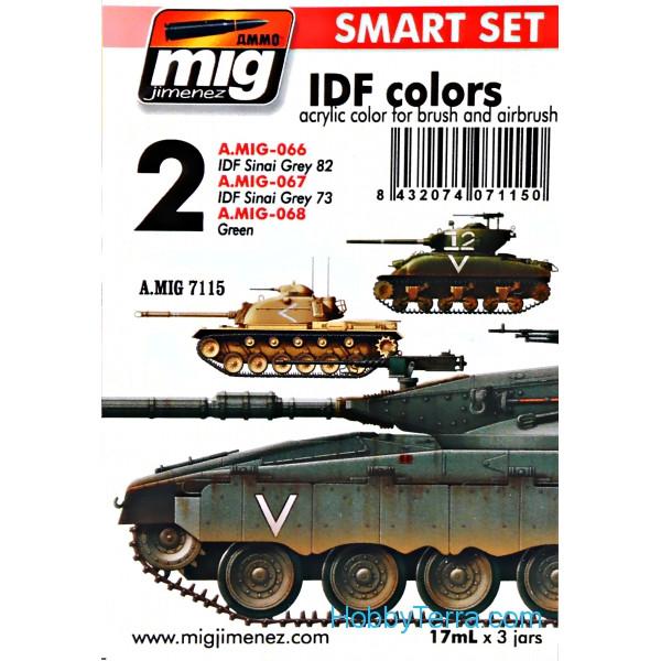 MIG (AMMO) 7115 Smart Set  IDF colors