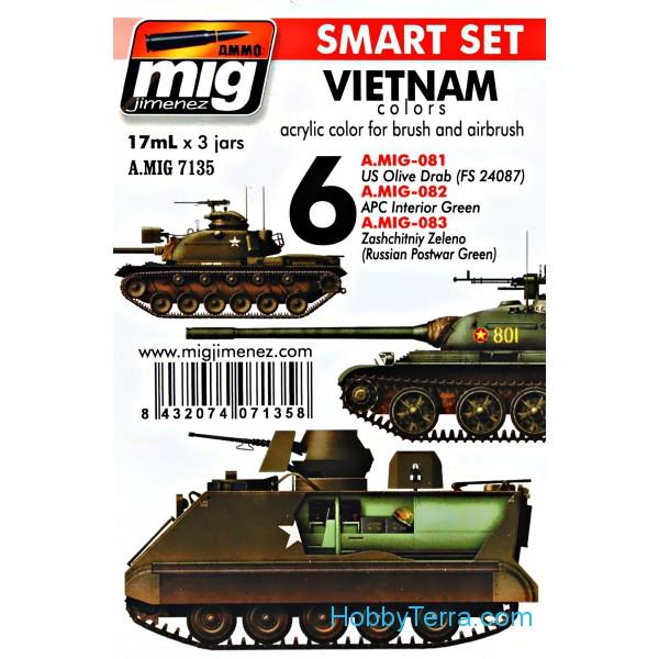 MIG (AMMO) 7135 Smart Set  Vietnam colors