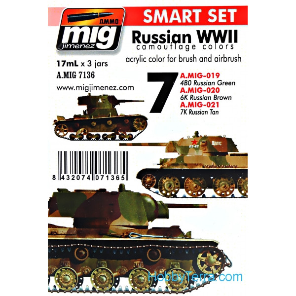MIG (AMMO) 7136 Smart Set  Russian WWII colors